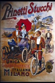 Vintage Italian cycling advertisement poster